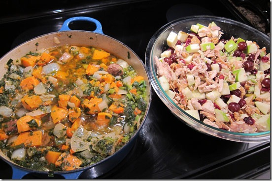 Batch-Cooking-Feb-26-2012-lamb-stew-and-waldorf-chicken-salad