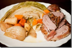 Icelandic-Leg-of-Lamb-Roast-with-Braised-Cabbage,-carrots,-and-parsley-root