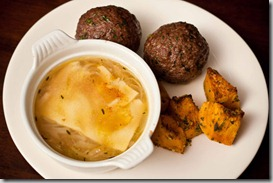 French-onion-soup-with-Scotch-eggs-and-squash
