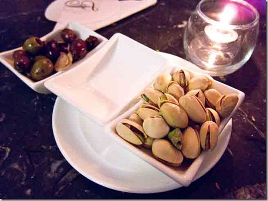 Fairmont Pacific Rim Lobby Lounge Nuts and Olives