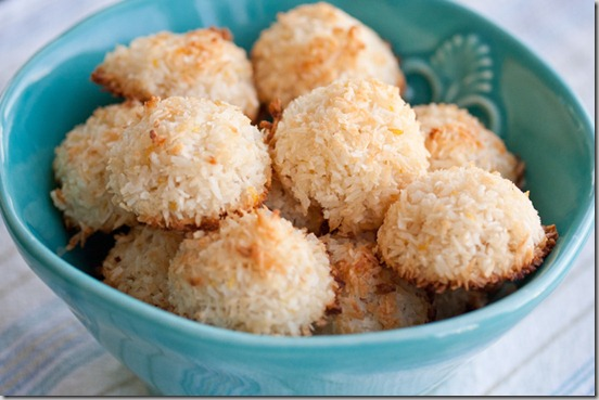 ... and coconut, why not make a batch of these lovely coconut macaroons