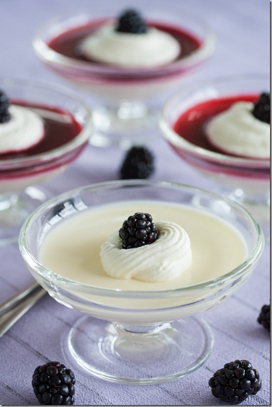 Three Ingredient Lemon Posset with Blackberries