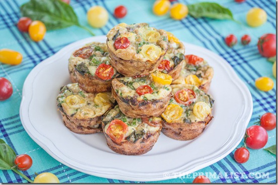 Basil, Sausage and Egg Muffins (Mini Frittatas) 2
