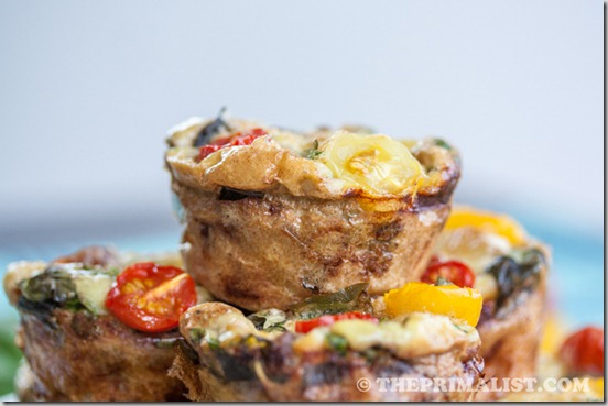 Basil, Sausage and Egg Muffins (Mini Frittatas) 5