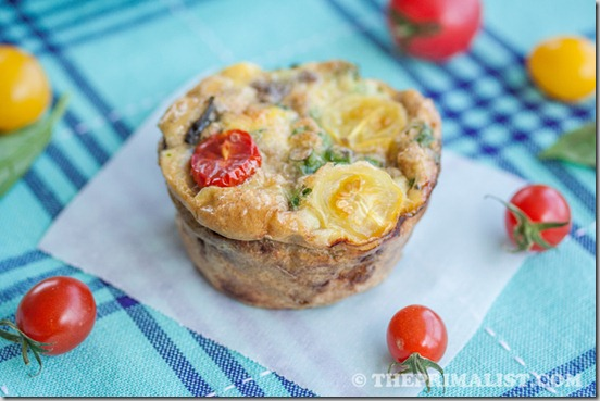 Basil, Sausage and Egg Muffins (Mini Frittatas) 7