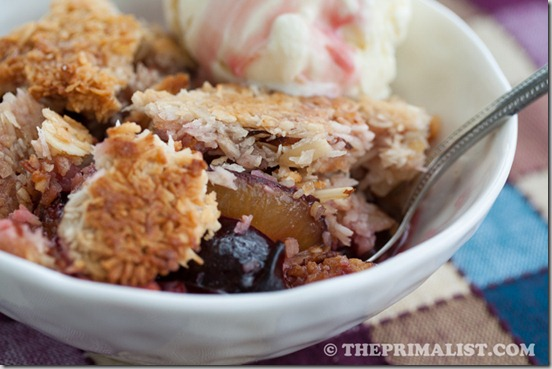 Coconut Plum Crumble 4