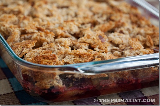 Coconut Plum Crumble