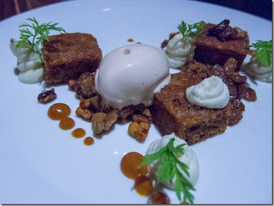 Terrace Restaurant at Mission Hill Winery Carrot Cake