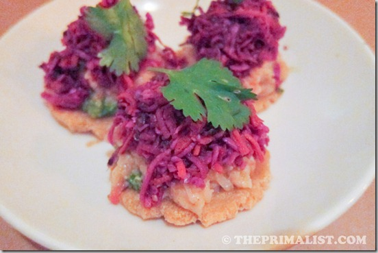 Passionfish Smoked trout ceviche tostaditas